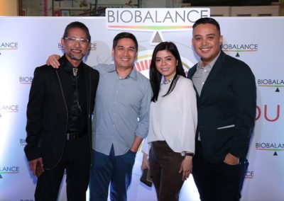 L-R: Dr. Ted Achacoso, BioBalance's HOMe Specialist and President of Delgado Hospital Dr. Rolando Balburias, BioBalance's Assistant Vice President Lee Victorino, and Cardiologist Dr. Daffy Morales