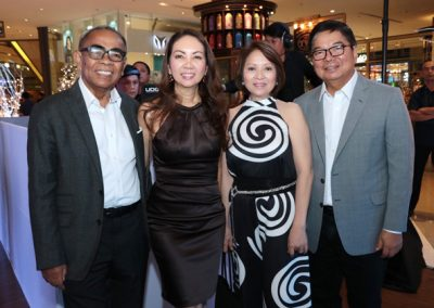 L-R: Dr. Joven Cuanang, Lifestyle Asia Editor-in-chief Anna Sobrepena, Former BSP Governor Amando Tetanco and wife Elma Tetangco