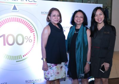 L-R: Malou Esguerra, HOMe consultant Dr. Pinky Baclig and BioBalance Customer Developmner Specialist Jem Leyson