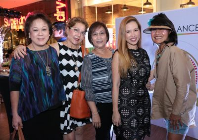 L-R: Grace Chua-Chiaco, Ginger Yap, Josefina Tuazon, BioBalance's Resident Psychologist Dr. Anna Cristina Tuason and Liza Caleda.