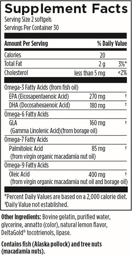 DFH OmegAvail Synergy 60 softgels supplement facts