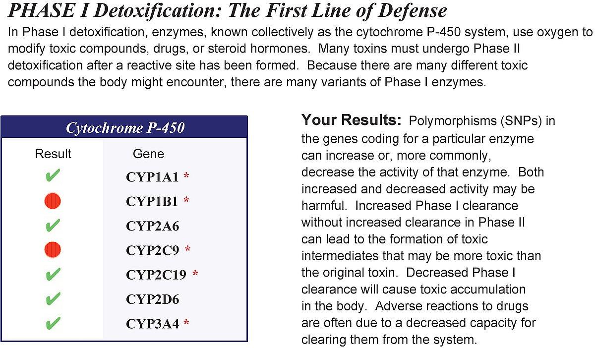 DetoxiGenomics sample result preview