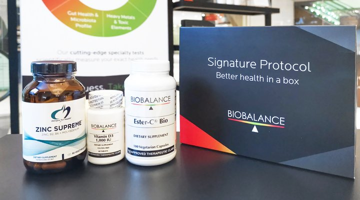 Photo of Signature Protocol packaging and product inclusions