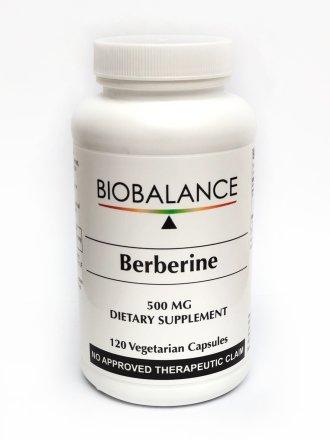 BioBalance Berberine 500mg 120 capsules product bottle