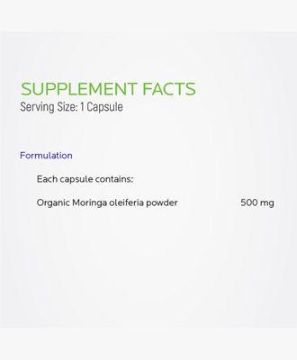 Supplement facts Moringa oleifera